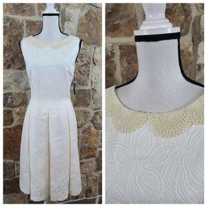 NWT Tahari 10 Nathan Beaded Fit & Flare Dress